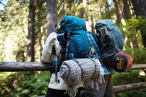 Reisen Backpackers nur mit einem Rucksack?